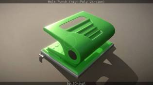 Hole Punch (High-Poly Version)_by_3dhaupt_1262