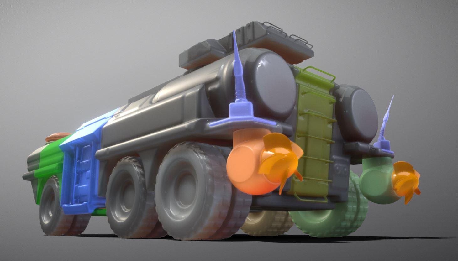 Amphibious Tank 3d-printable by 3dhaupt