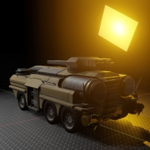Amphibious Tank in Blender 2.8 (100)
