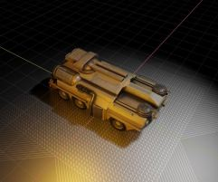 Amphibious Tank in Blender 2.8 (3)
