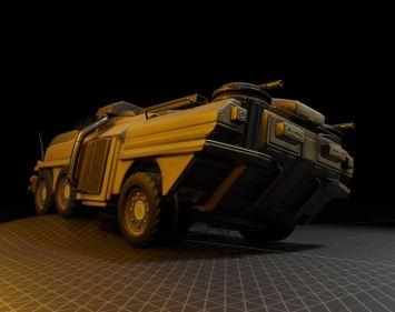 Amphibious Tank in Blender 2.8 (4)
