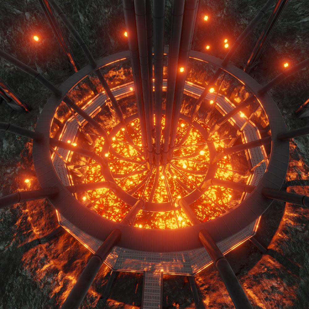 Geothermal Steam Factory Blender 28 Eevee by 3dhaupt 3