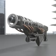 Railgun Prototype by 3dhaupt test in blender 2.8 Eevee(1)