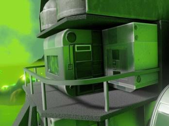 Here is the Blender2.8 Eevee version of my five wheeler design in dangerous radioactive surrounding.