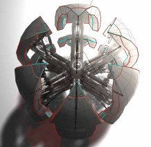 Sphere-Bot design with some hydraulic upgradesMade by Dennis Haupt (3DHaupt) (5)
