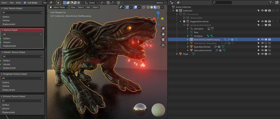 Object-Alien-Animal_PostProcessing