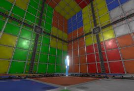 A walk-in Rubik's Cube room idea-modeled-textured-and-animated-by-3DHaupt-in-Blender-2.8